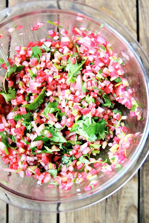 watermelon radish salsa