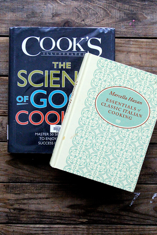 two cookbooks on a table