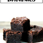 A tray of rich, fudgy brownies.