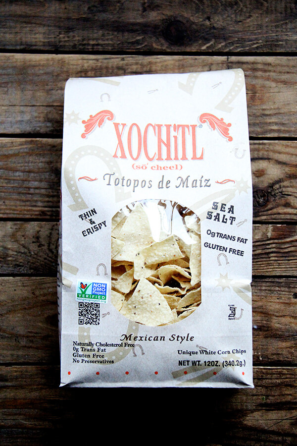 A bag of Xochitl chips.