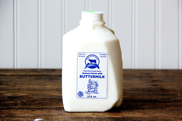A quart of Argyle cheese farmer buttermilk.