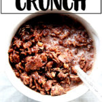 A bowl of homemade cocoa crunch