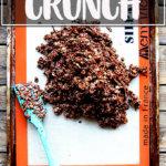 A sheet pan of homemade cocoa crunch.