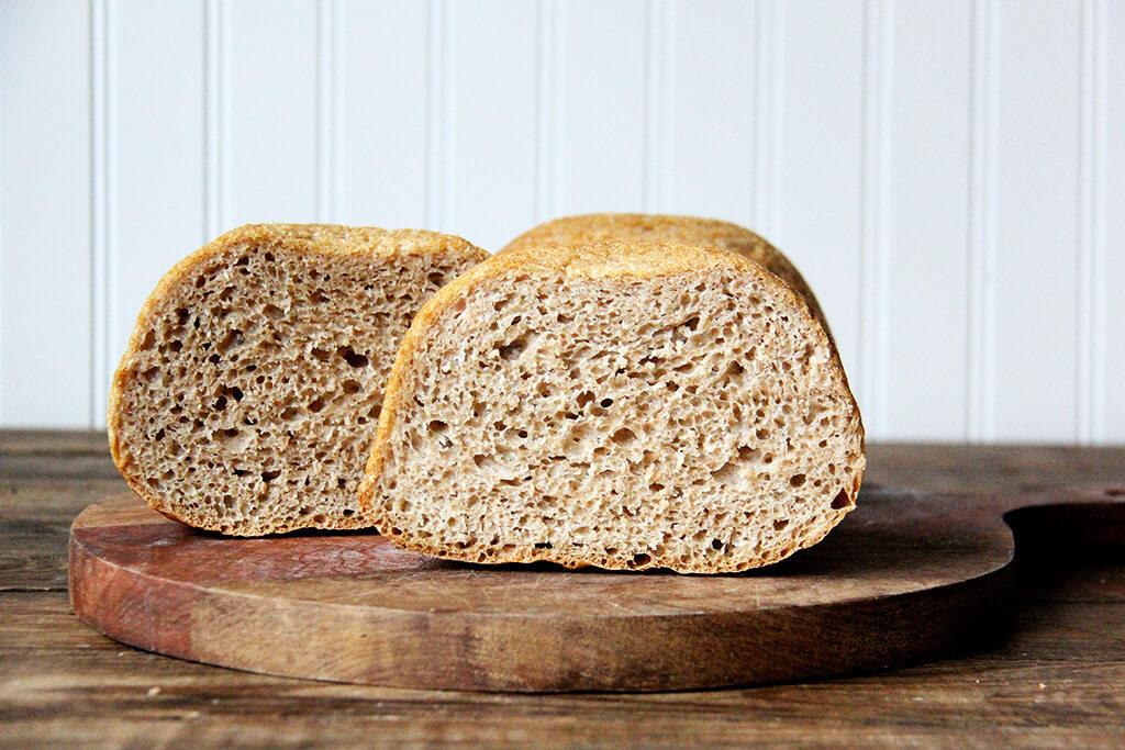 white whole wheat peasant bread