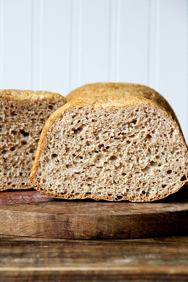 white whole wheat peasant bread