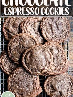Chocolate espresso cookies.