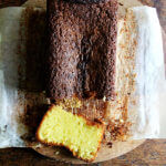 A loaf of lemon-semolina cake.
