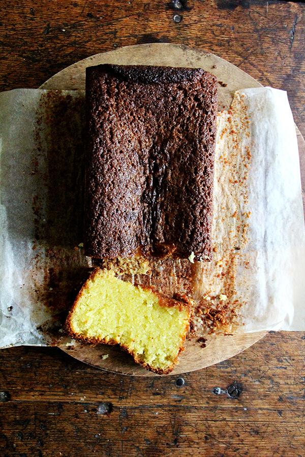 lemon-semolina cake, olive oil