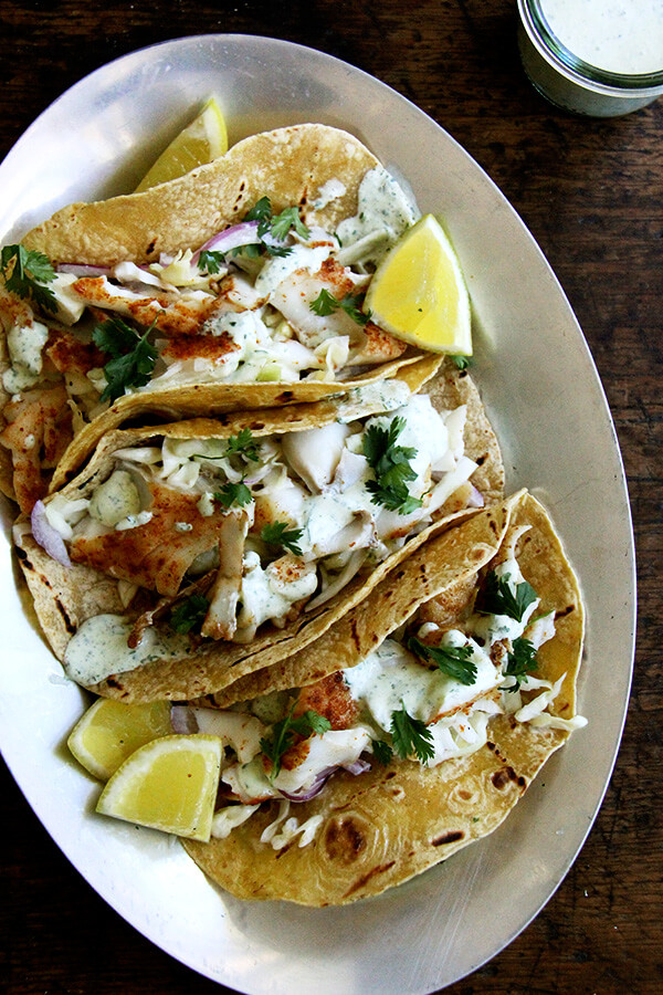 Skillet-Grilled Fish + Tacos - alexandra's kitchen