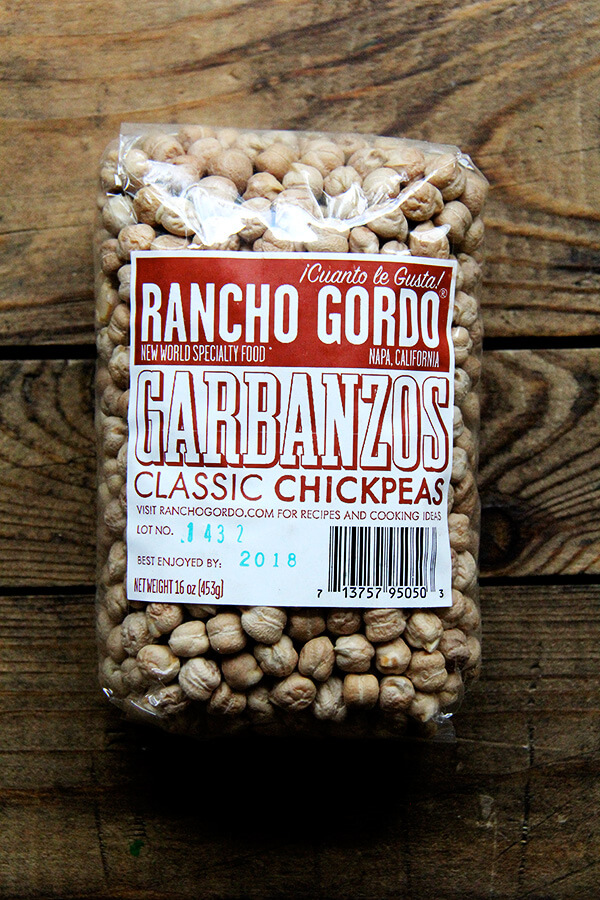 Rancho Gordo chickpeas
