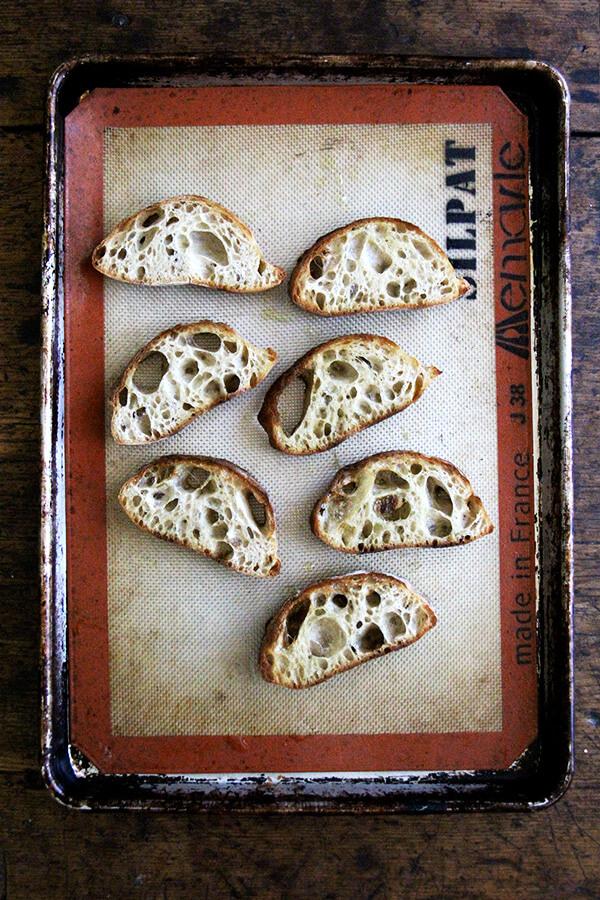 Broiled Berkshire Mountain Bakery ciabatta