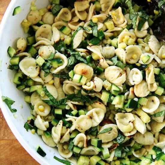 Toasted Orecchiette with Zucchini & Corn