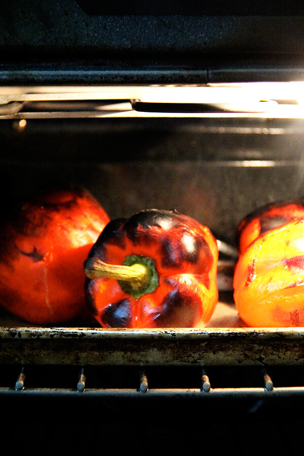 peppers in oven