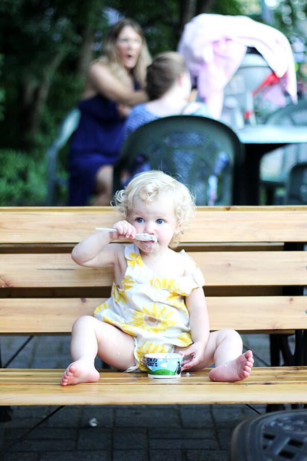 tig eating ice cream