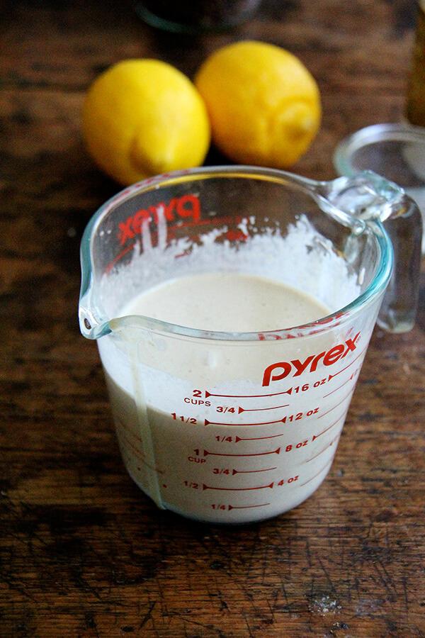 lemon-tahini drizzle