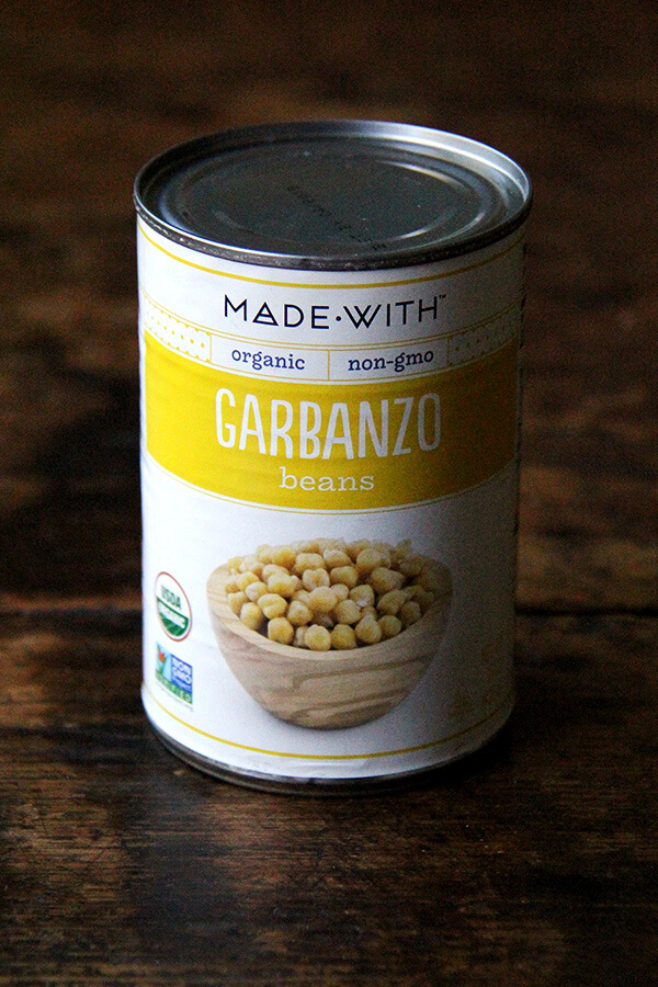 A can of chickpeas.