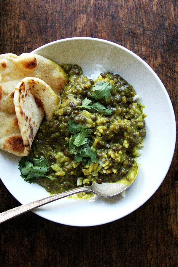 These curried lentils with coconut milk are incredible even completely cold and in solid form. I could live on these lentils. // alexandracooks.com