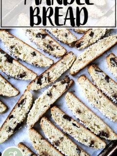 Just baked mandel bread.