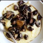 roasted mushrooms with creamy polenta