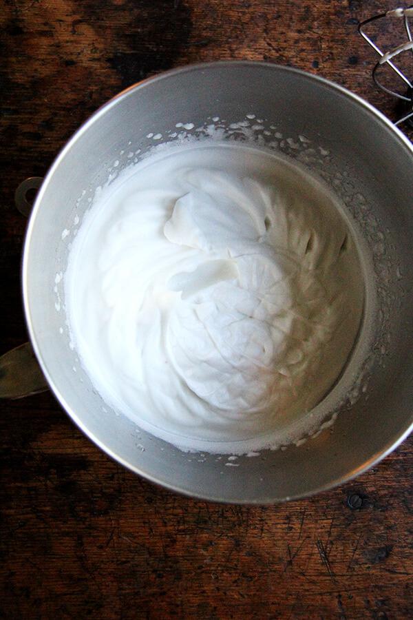 whipped homemade aquafaba