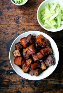 Red-Cooked Pork Belly + The Simplest Cucumber Salad