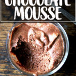 A bowl of vegan chocolate mousse made with aquafaba.