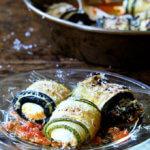 A plate of zucchini involtini