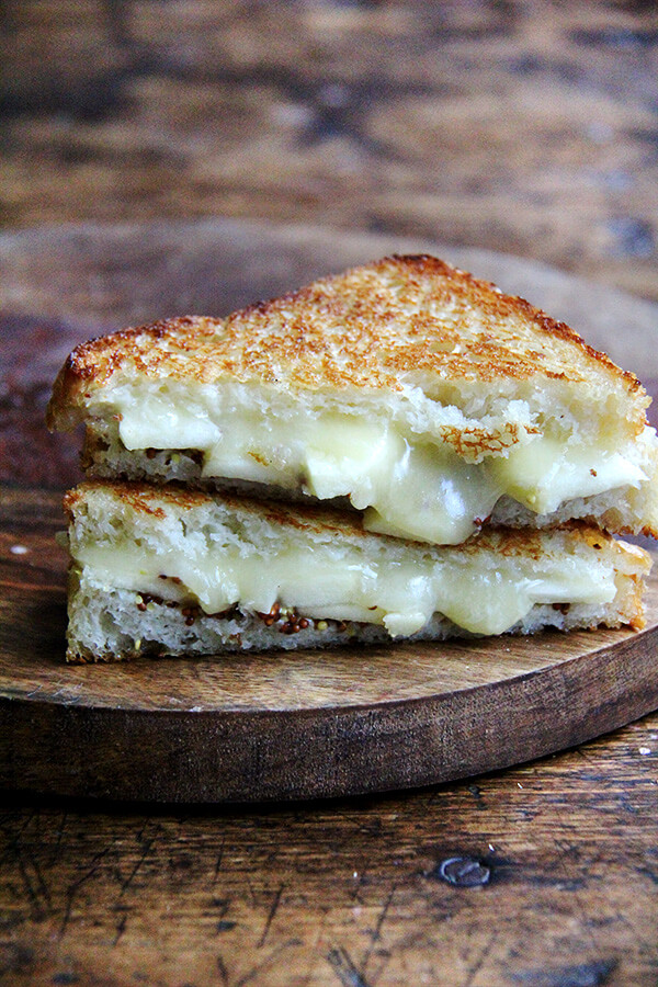 This apple, cheddar, mustard sandwich is easy to whip up, satisfying, and will not last long on any plate. // alexandracooks.com