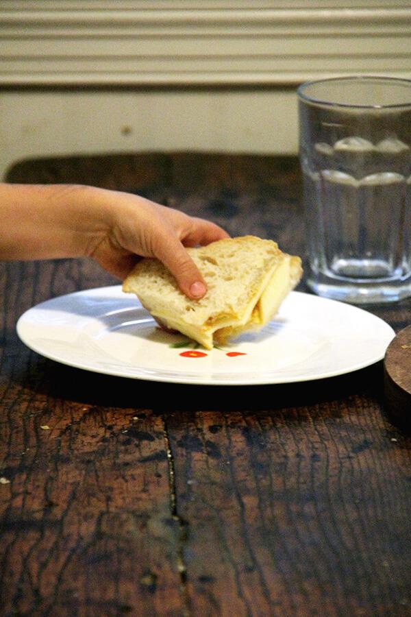 sandwich, unmelted