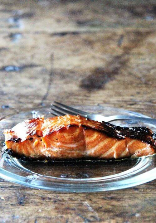I love this recipe for broiled ginger-soy salmon, which I've made many times over the years. While I've always kept the marinade exactly the same, I've experimented with various cooking methods to avoid having to flip the fish. This method, starting under the broiler and finishing in a hot skillet, is the one I liked best. // alexandracooks.com