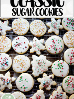 Classic cream cheese cutout cookies.