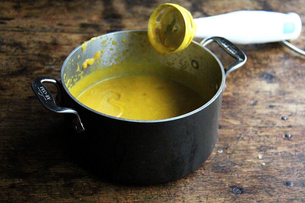 pureed butternut squash-sage sauce