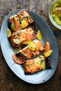 Broiled Lemon-Honey Arctic Char with Citrus Sauce