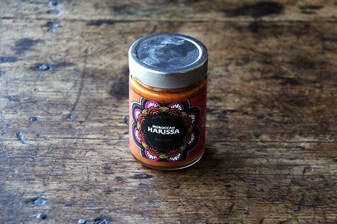 A jar of harissa.