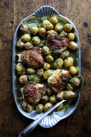 One-Pan Chicken with Potatoes & Tarragon