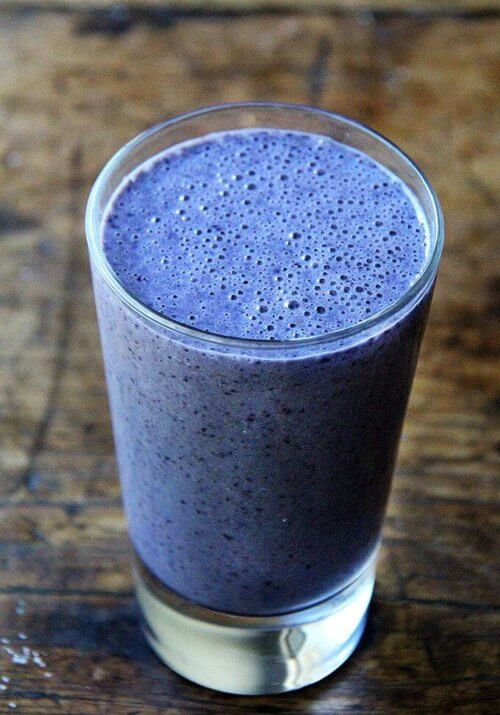 A whirl of sweet hydration is just what I need as hotter days move in or, as it turns out, even whenthey don't—I've been making this blueberry-almond smoothieevery day, rain or shine, brisk or balmy. // alexandracooks.com