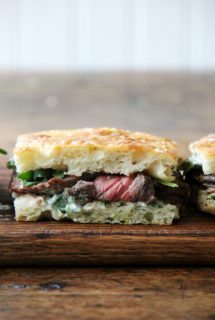 Weeknight Skirt Steak Sandwiches with Herbed Mayonnaise and Arugula