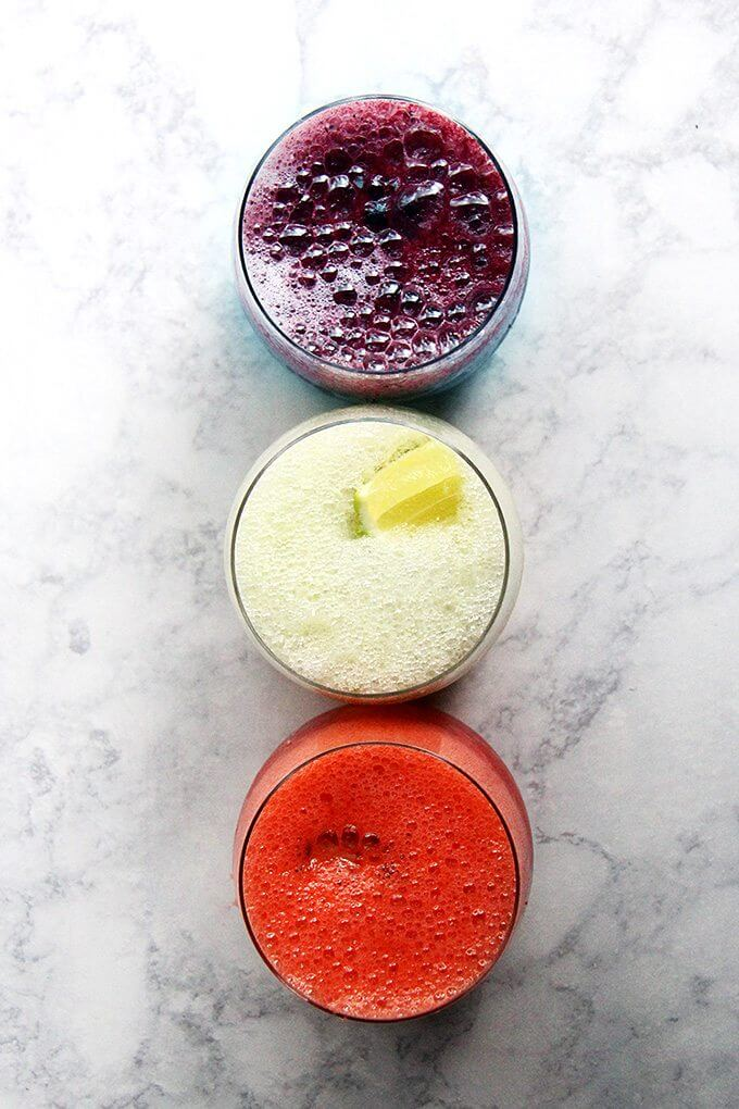 A trio of paloma slushies.
