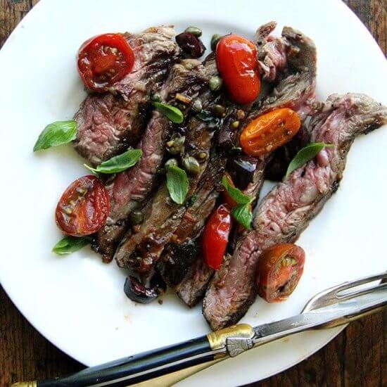 Skillet-Seared Skirt Steak Niçoise