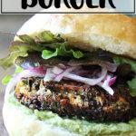 Sweet potato and mushroom quinoa burger.