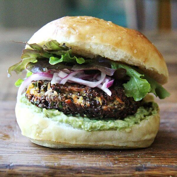 Sweet Potato and Mushroom Quinoa Burger
