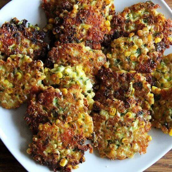 Corn Fritters with Cheddar & Scallions