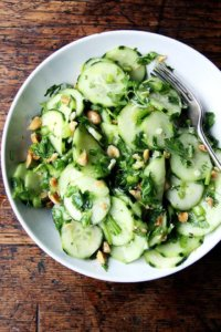 With fresh herbs like cilantro and mint straight from the garden, this delicious Vietnamese cucumber salad comes together easily and in a snap. Yum. // alexandracooks.com