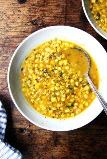 Deborah Madison's Curried Coconut Corn Soup