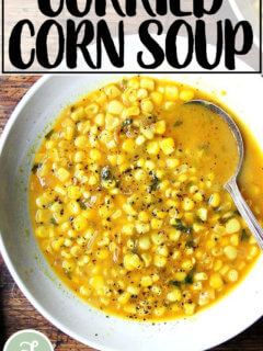 Curried corn soup.