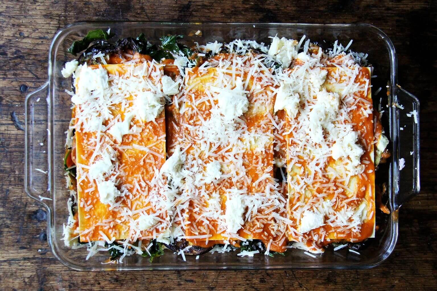 assembled eggplant lasagna