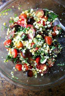 Mark Bittman's Raw Corn Salad with Tomatoes, Feta, Basil & Mint