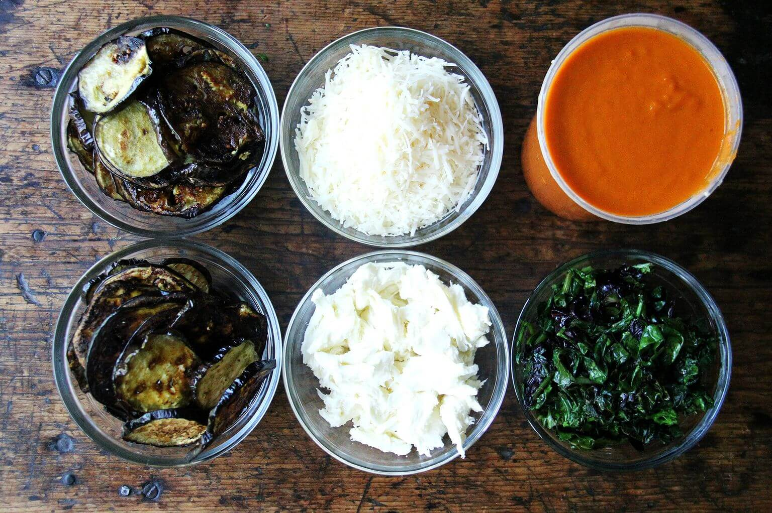 ingredients for eggplant lasagna