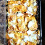 just baked roasted eggplant and Swiss chard lasagna