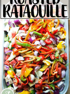 A pan of unroasted ratatouille.